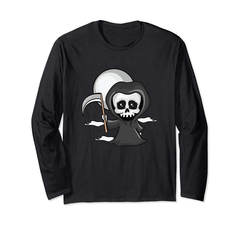 Cute Halloween Girl Grim Reaper Scythe Yeet T Shirt