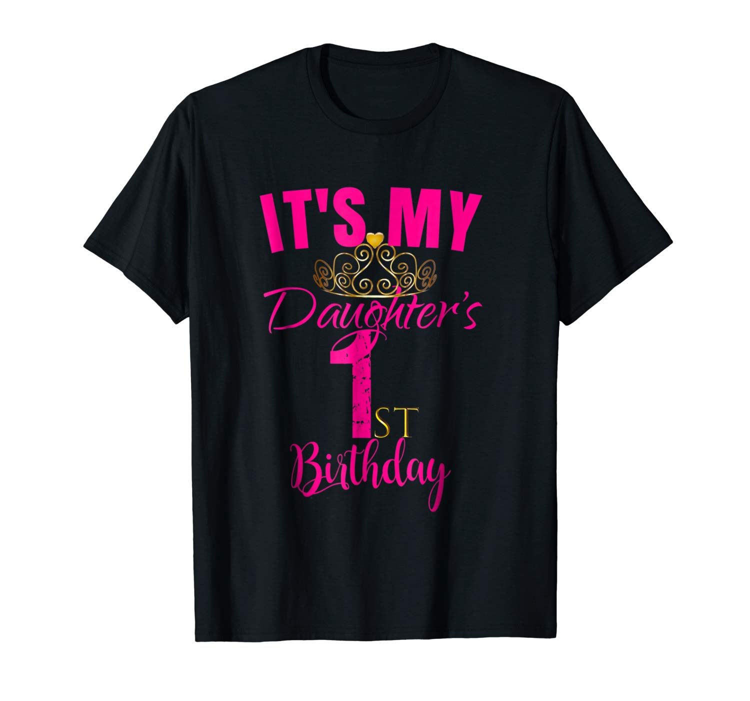 Cute It S My Daughter S 1st Birthday Shirt Party Out Gift