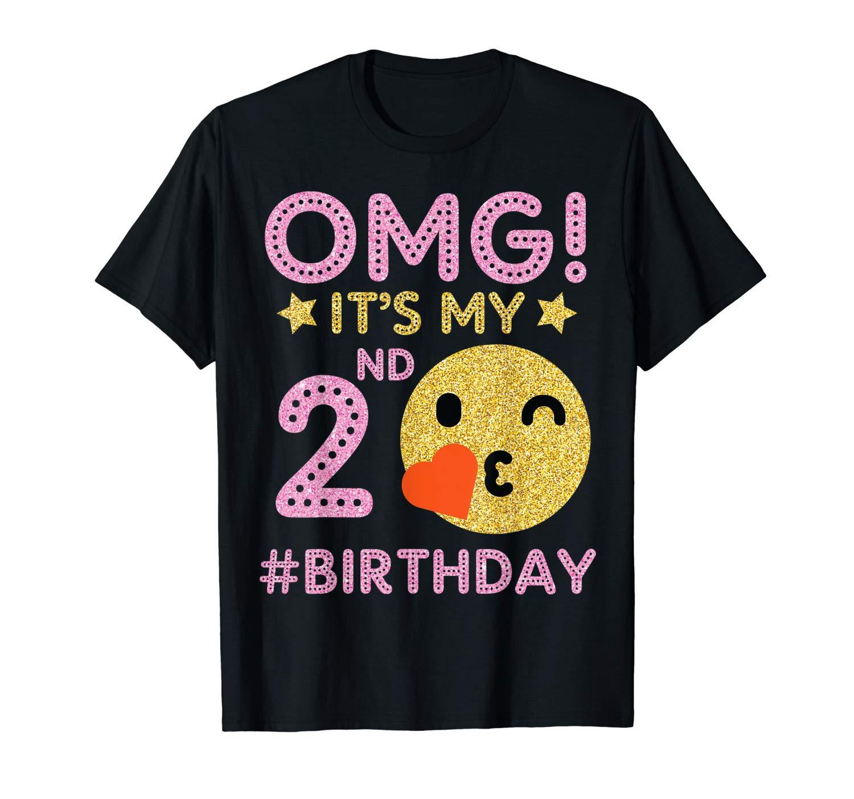 Cute Vintage Retro Emotion Face Omg It S My 2nd Birthday Shirts