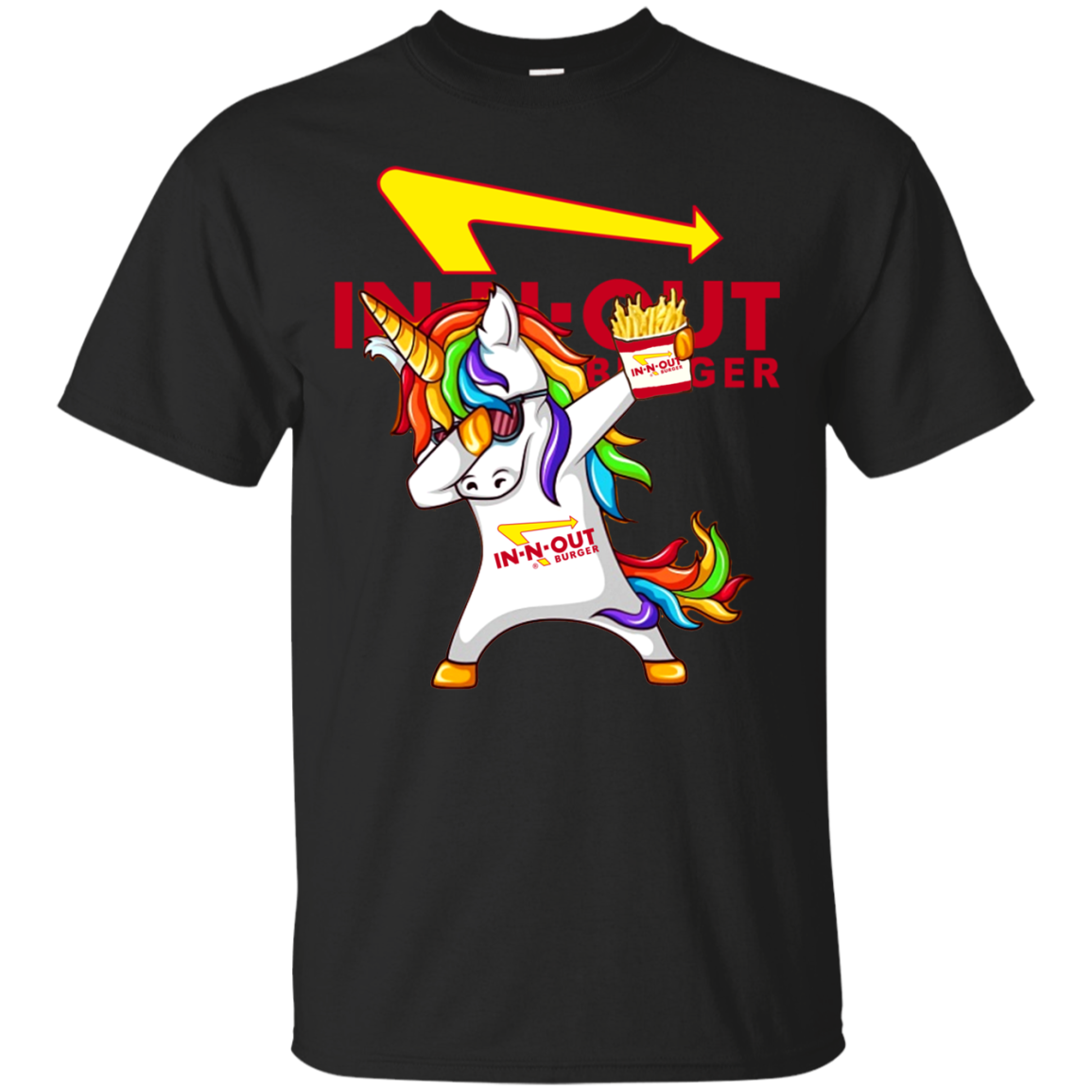 Dabbing Unicorn Loves In N Out Burger T Shirt Sweater