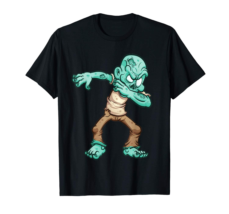 Dabbing Zombie Halloween Dab Funny Zombies T Shirt