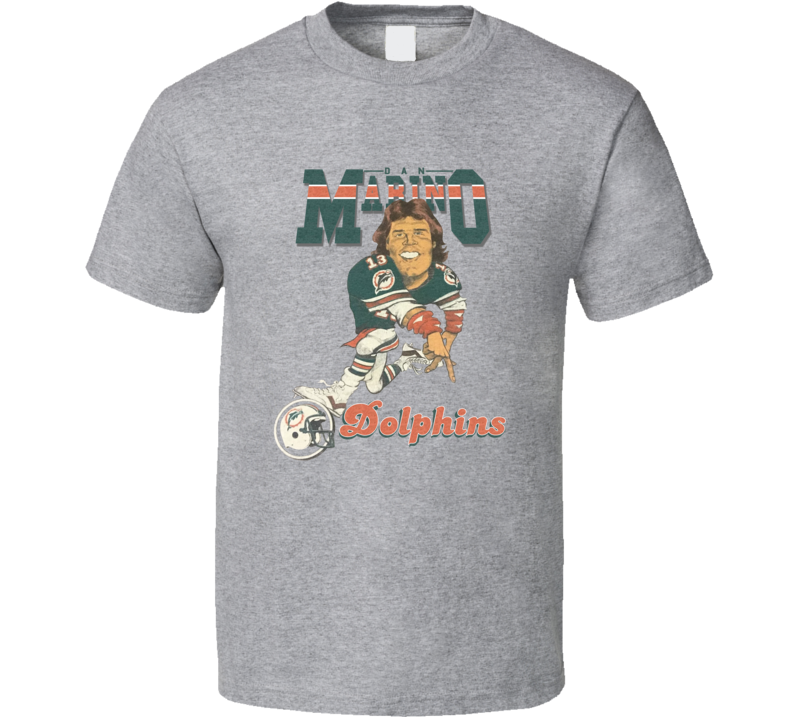 Dan Marino Miami Qb Football Retro Caricature Shirts
