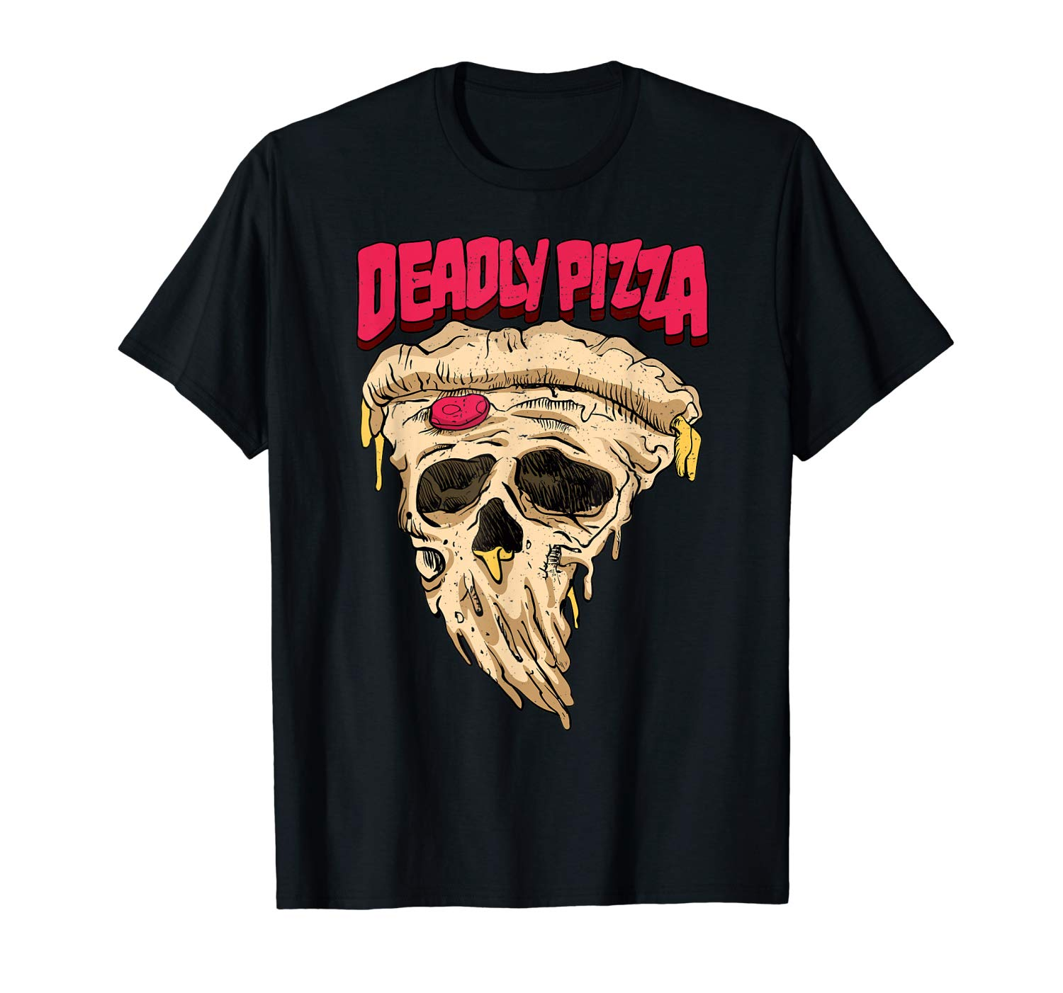 Deadly Pizza Lover Funny Horror Halloween Gift T Shirt