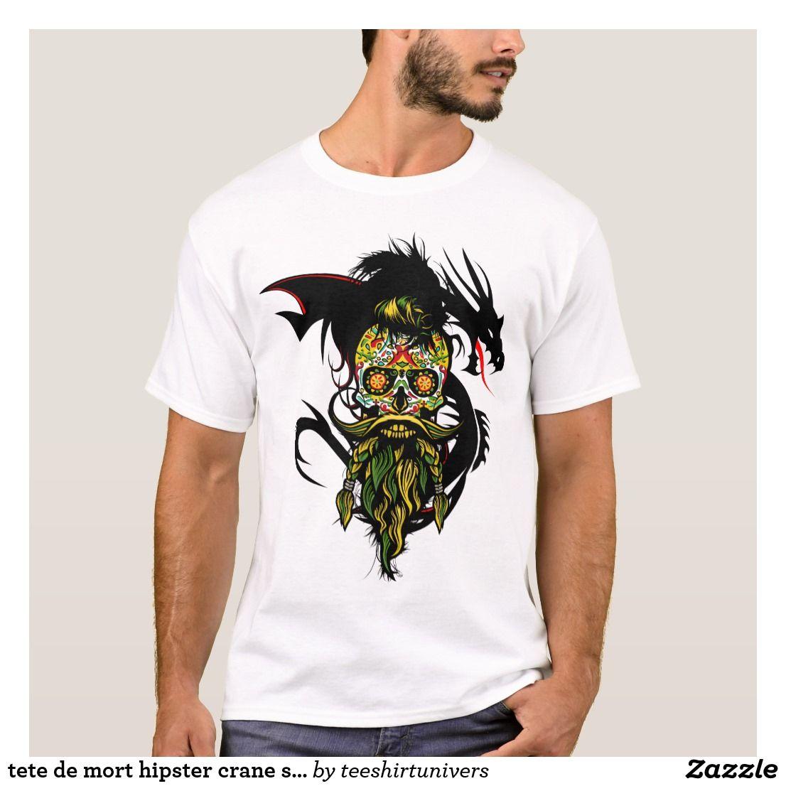 Death S Head Hipster Skull Skull Bearded Barb Shirts