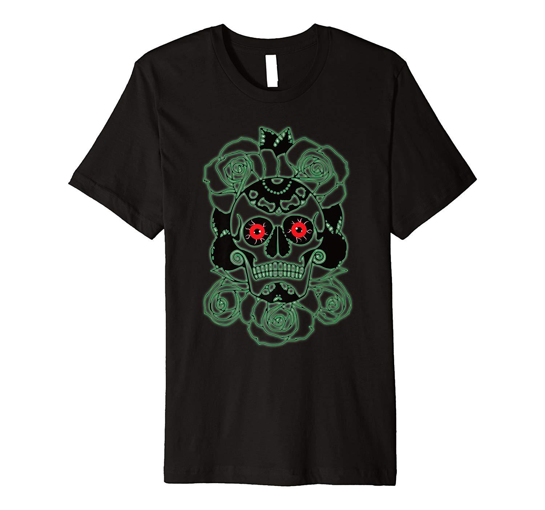 Dia De Los Muertos Gift Mexican Skull Halloween Premium T Shirt
