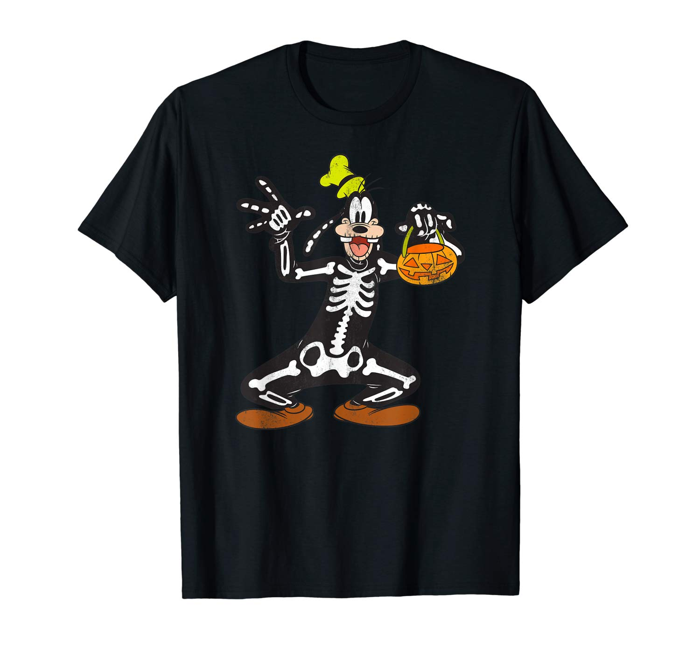 Disney Goofy Skeleton Halloween T Shirt