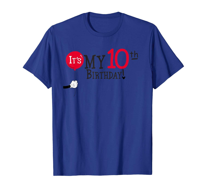 Disney Mickey Mouse Balloon It S My 10th Birthday T Shirt