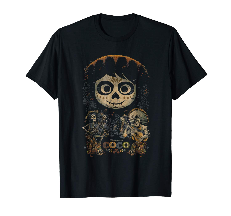 Disney Pixar Coco Miguel Musical Scene Graphic T Shirt