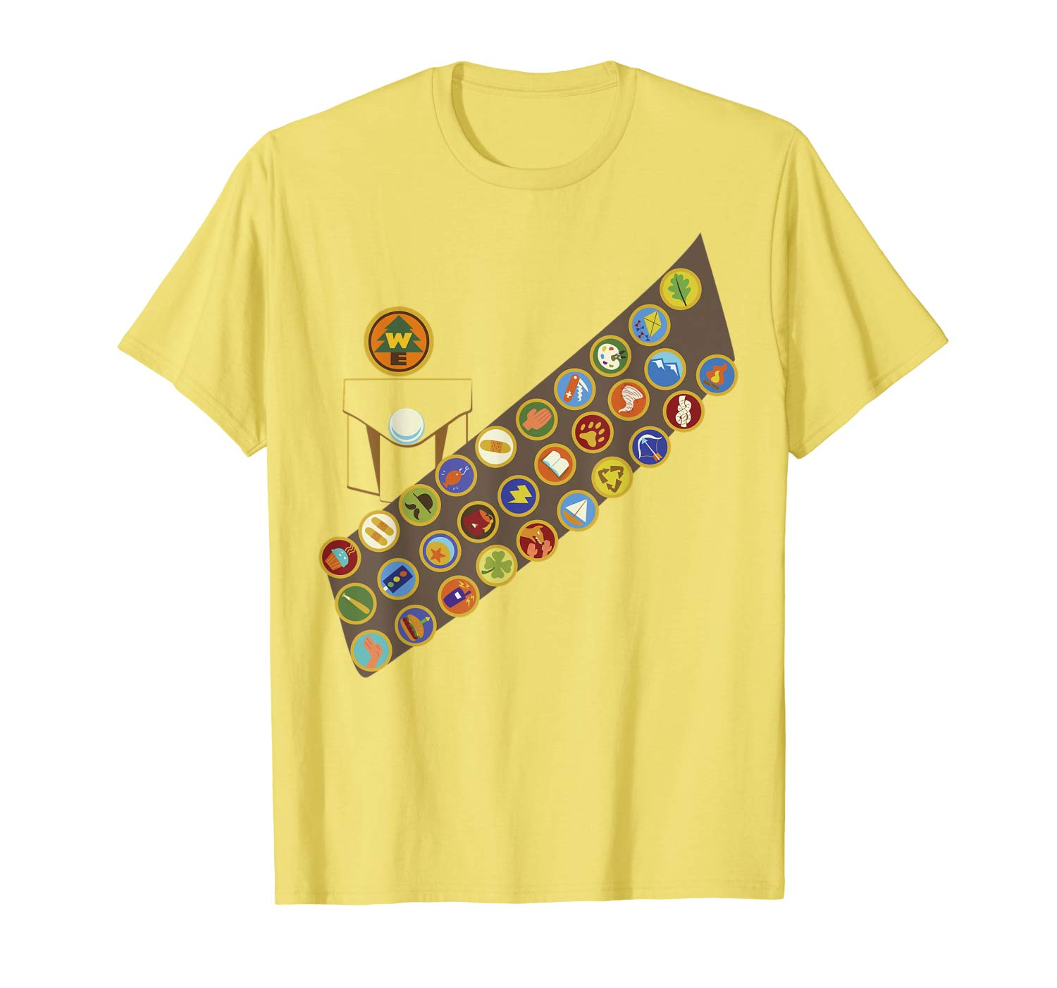Disney Pixar Up Russell Patches Halloween Graphic T Shirt