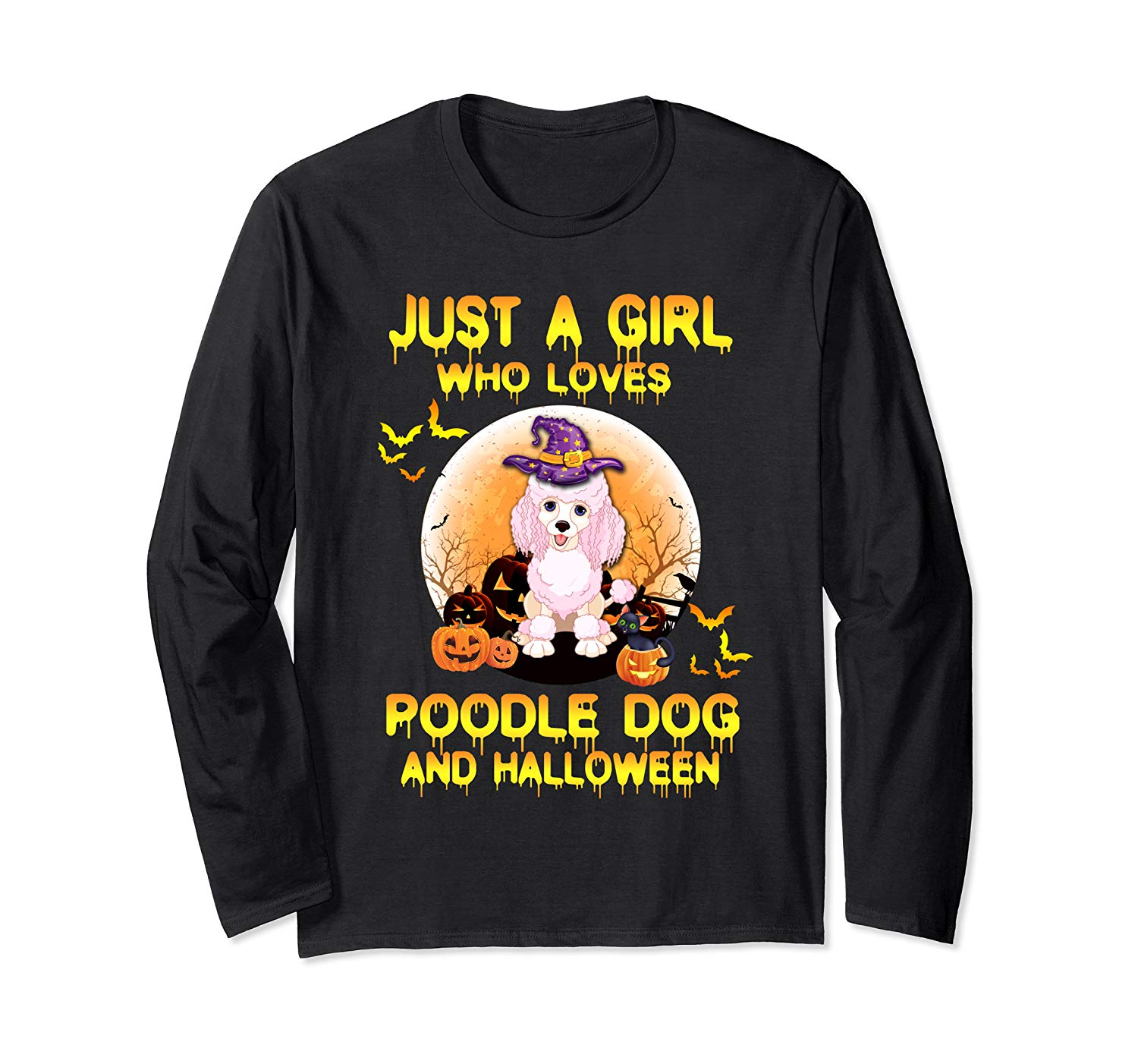 Dog Witch T Shirt Just A Girl Who Loves Poodle And Halloween T Shirt