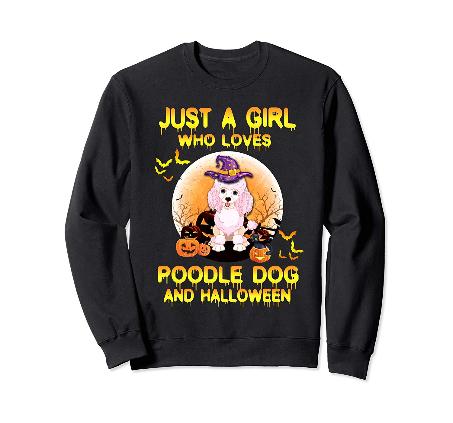 Dog Witch T Shirt Just A Girl Who Loves Poodle And Halloween