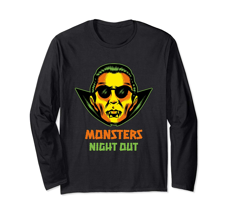Dracula Shirt Monsters Night Out Halloween Monster Vampire T Shirt