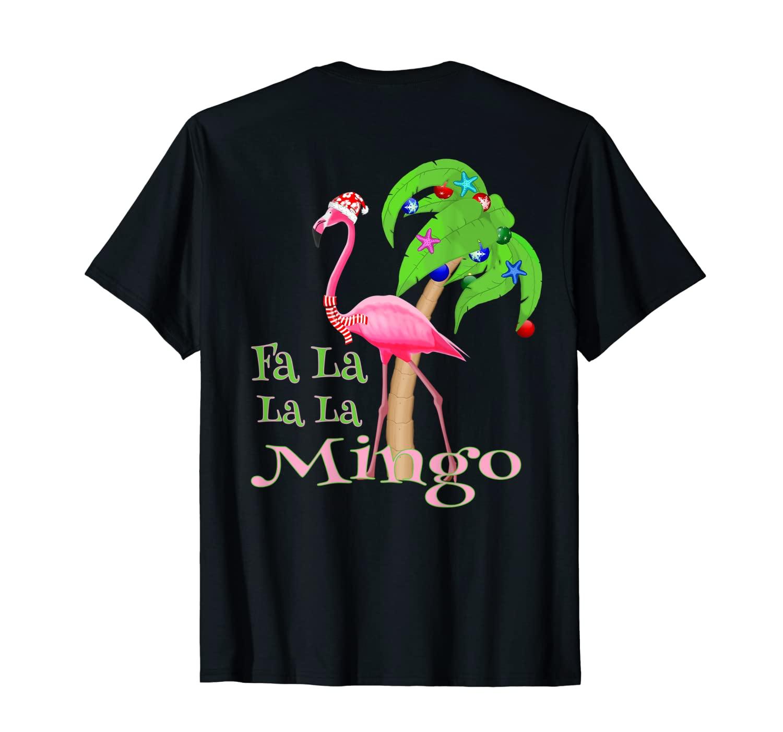 Fa La La La Mingo Pink Flamingo Tropical Christmas Shirts