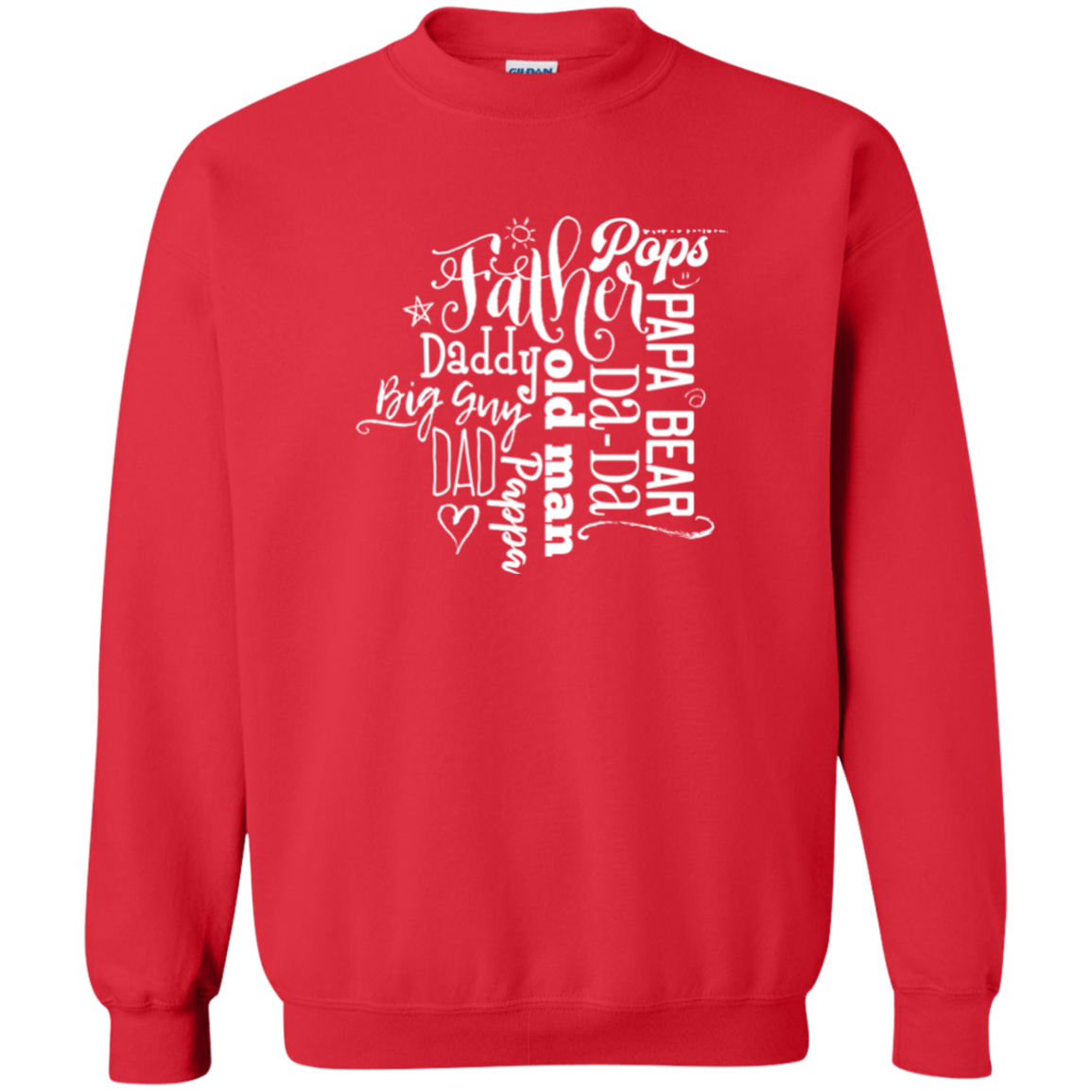 Father Pops Papa Bear Old Man Daddy Crewneck Pullover