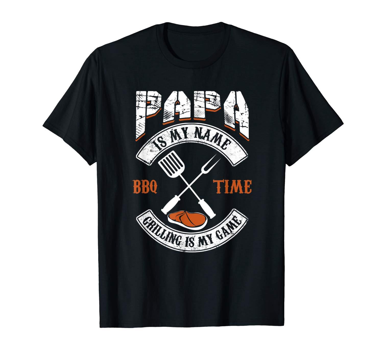 Fathers Day Shirts Papa Funny Grill Game Gift Bbq Tshirt T Shirt