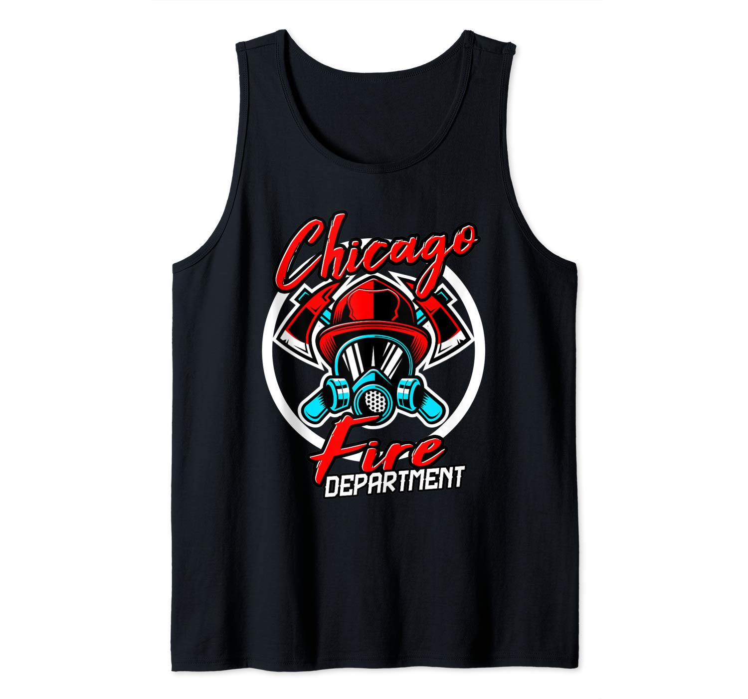 Firefighter Fire Departt Chicago Funny Station Gift Tank Top Shirts