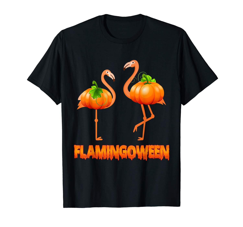 Flamingoween Pumpkin Pumpkin Flamingo Halloween Custome T Shirt