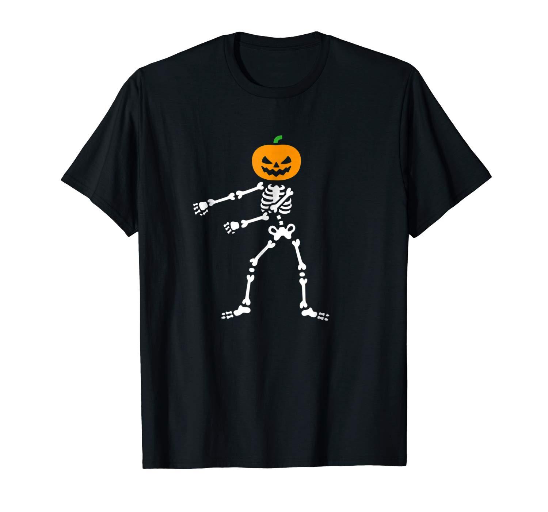 Flossing Pumpkin Head Skeleton Floss Dance Halloween Shirts