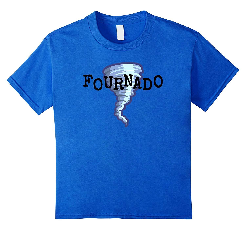 Fournado Shirt 4 Year Old Birthday Gift Funny Tornado Item