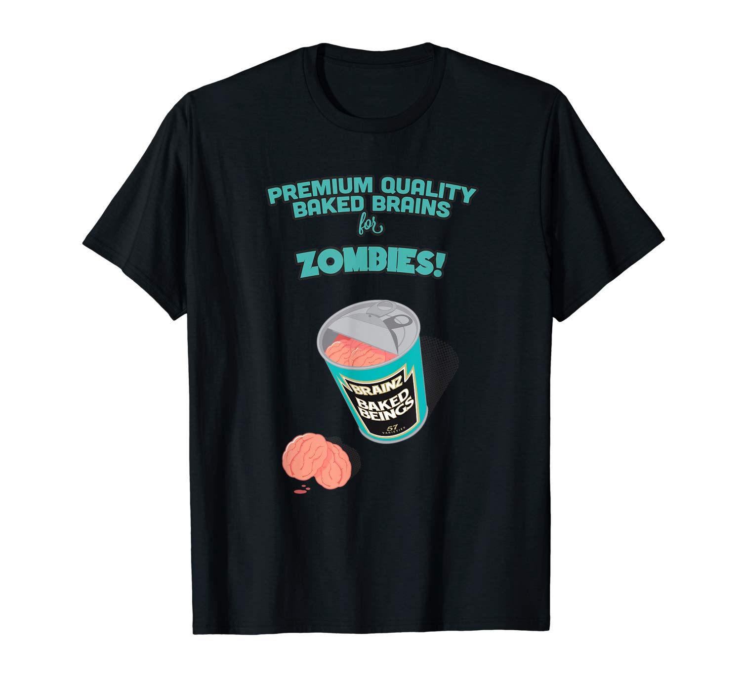Funny Halloween Baked Brains For Zombies Horror Gift T Shirt