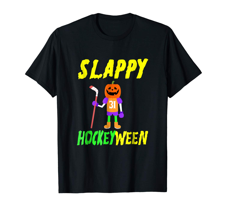 Funny Halloween Tee Ice Hockey T Shirt Slappy Halloween