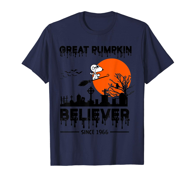 Funny Peanuts Great Pumpkin Believer Since 1966 Halloween T Shirt