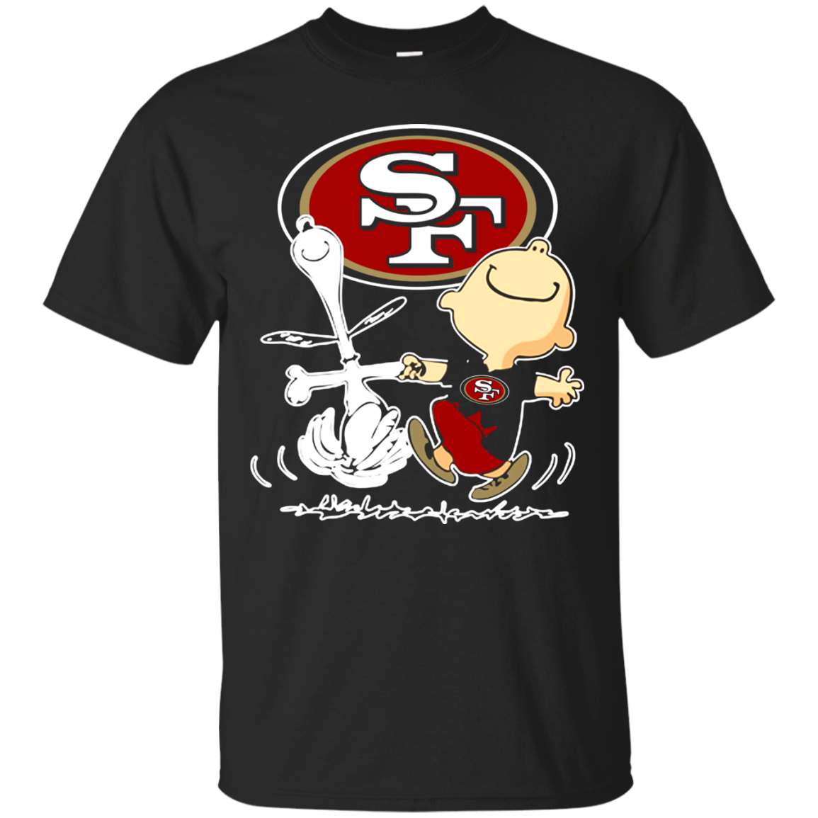 Get Here San Francisco 49ers Snoopy T Shirt