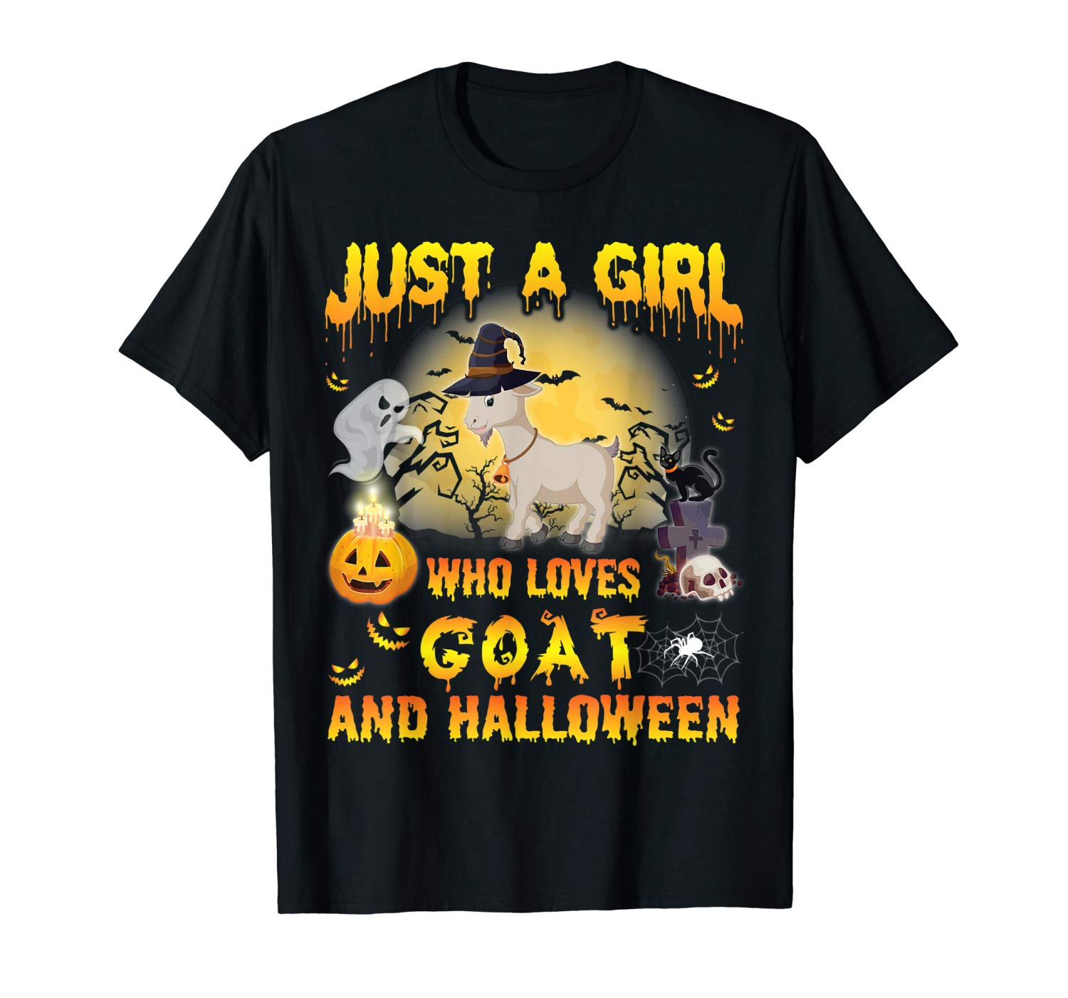 Goat Witch Just A Girl Who Loves Goat And Halloween Shirt