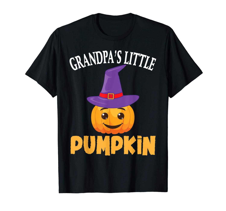 Grandpa S Little Pumpkin Baby Halloween T Shirt Funny