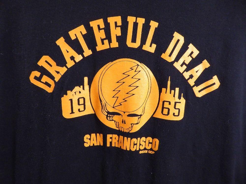 Grateful Dead 1965 Repro San Francisco X Black Orange Ebay Shirts