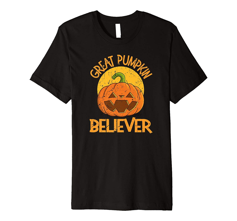 Great Pumpkin Believer Vintage Halloween Horror Gift Premium T Shirt