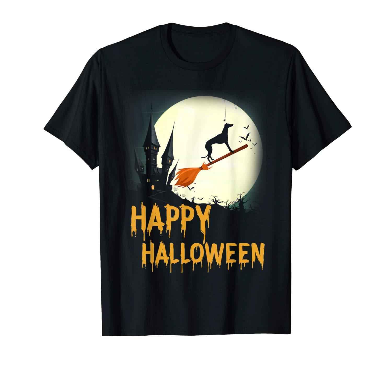 Greyhound Happy Halloween T Shirt Funny Halloween Shirt