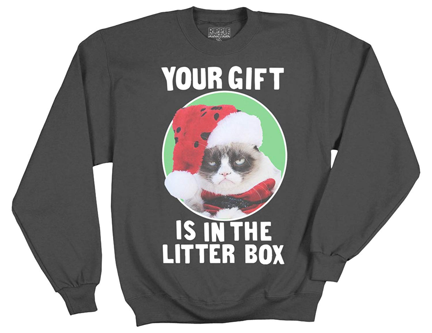 Grumpy Cat Your Gift Is In The Litter Box Adult Shirts