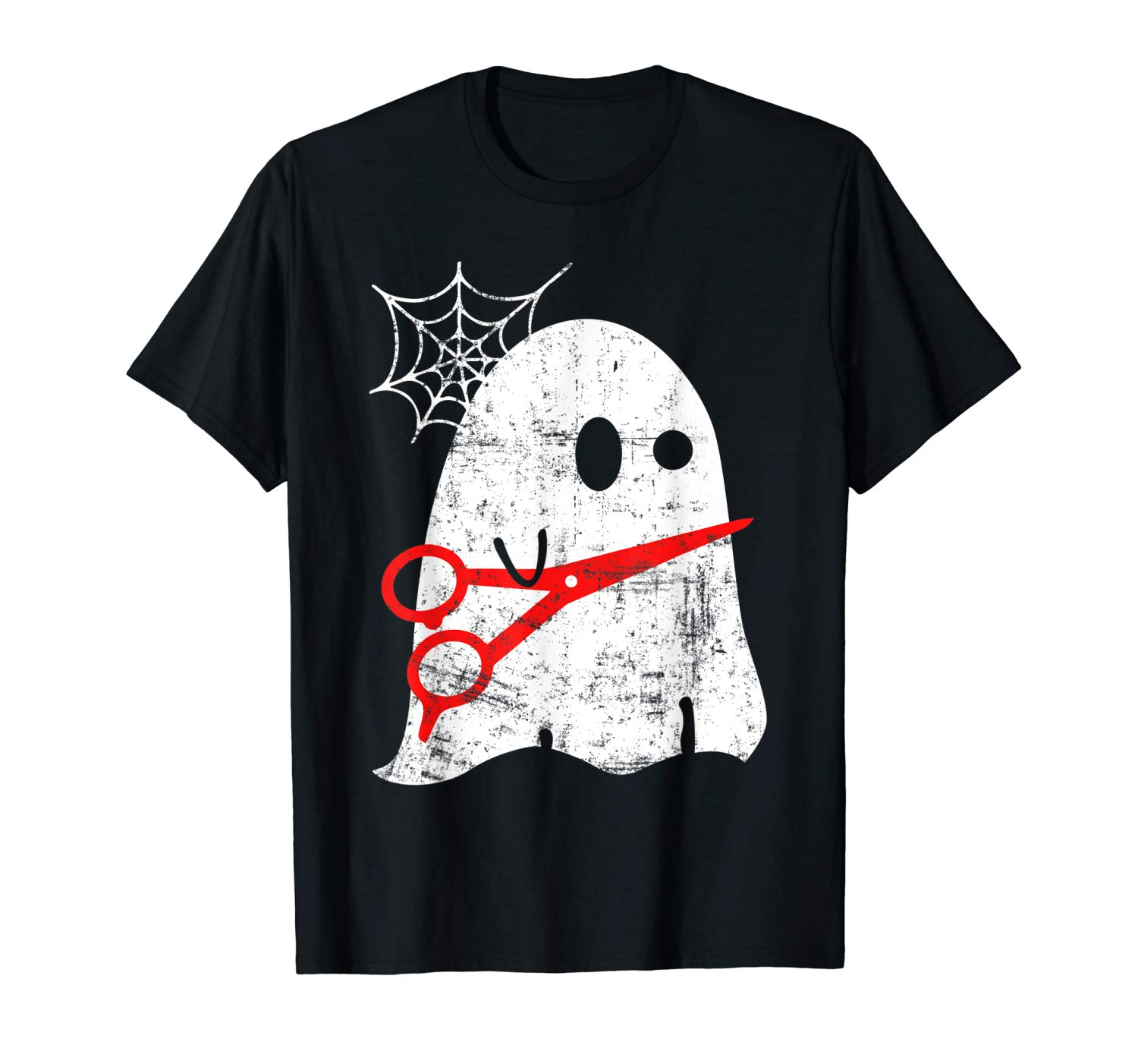 Hairstylist Halloween Ghost With A Scissors Shirt