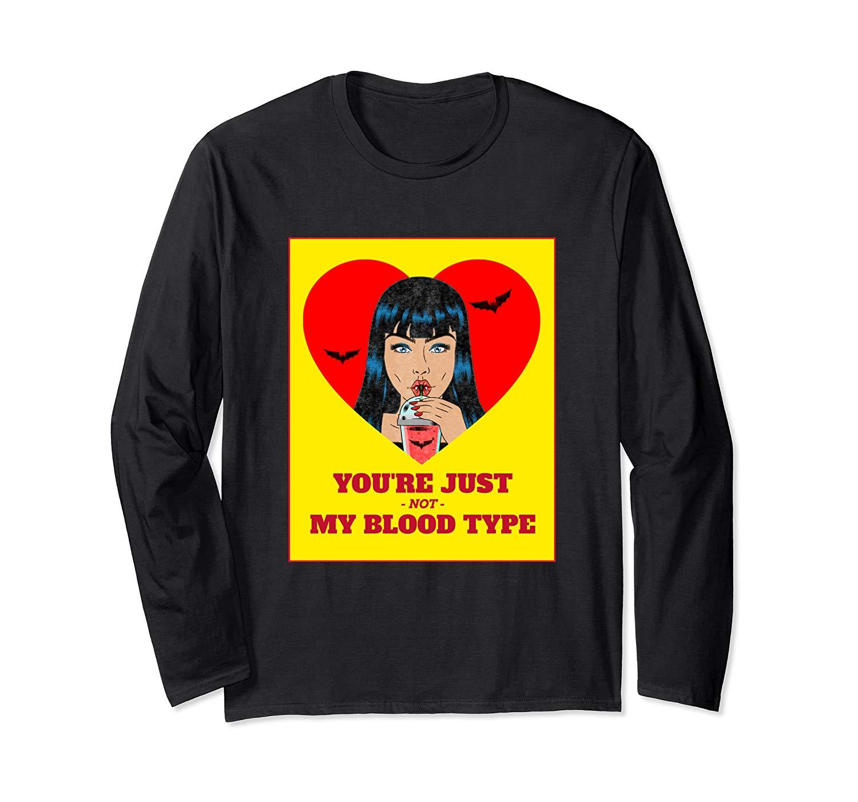 Halloween Bloody Shirts Not My Blood Type Vampire Graphic T Shirt