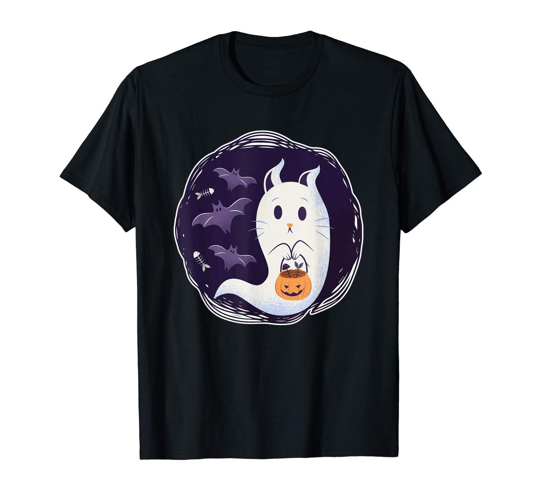 Halloween Ghost Cat Bat Pumpkin T Shirt