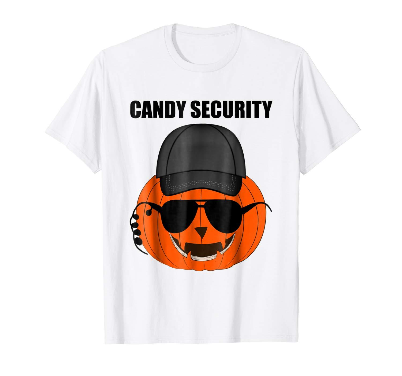 Halloween Jack O Lantern Funny Candy Security T Shirt