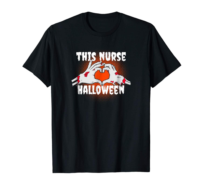 Halloween Nurse Shirt This Nurse Loves Halloween Shrit
