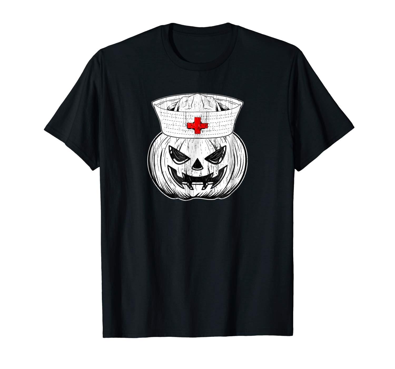 Halloween Nursing Shirt Scary Pumpkin Hospital Night Party