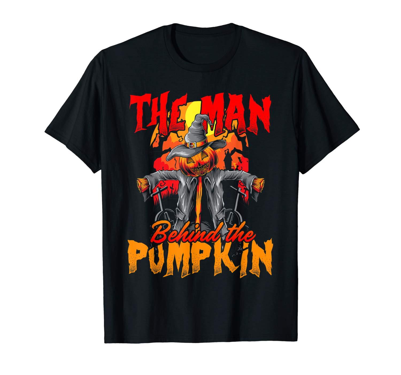 Halloween Pregnancy Shirt Funny The Man Behind Pumpkin Gift T Shirt