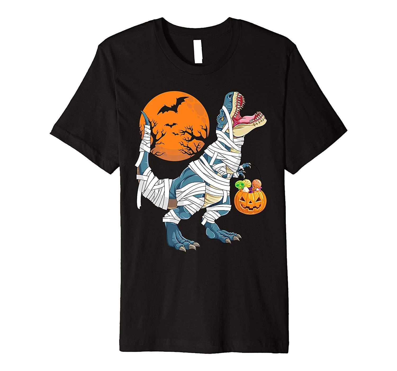 Halloween Shirt For Girls Dinosaur T Rex Pumpkin Premium T Shirt