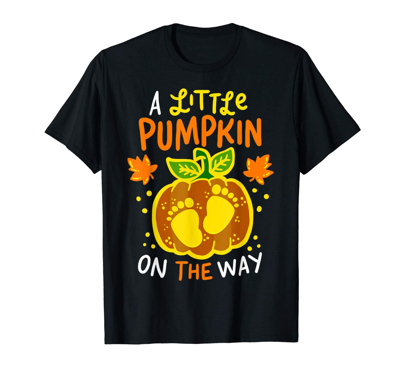 Halloween Shirt Pregnancy Announcet Pumpkin Baby Cute Tee