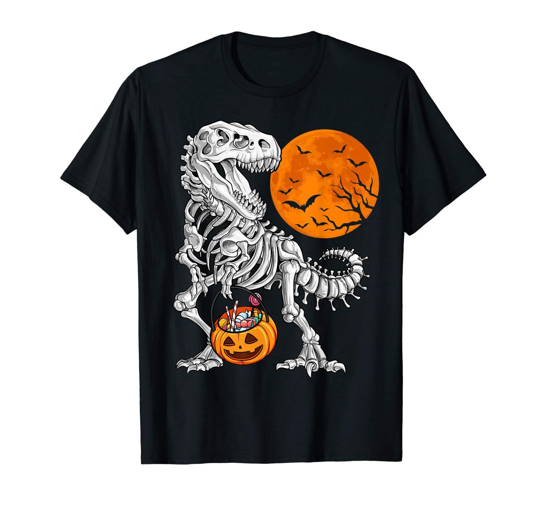 Halloween Shirts For Dinosaur Skeleton T Rex Scary