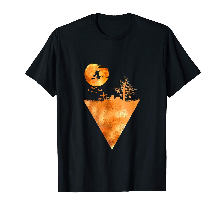 Halloween Witch Graveyard Ts Shirts