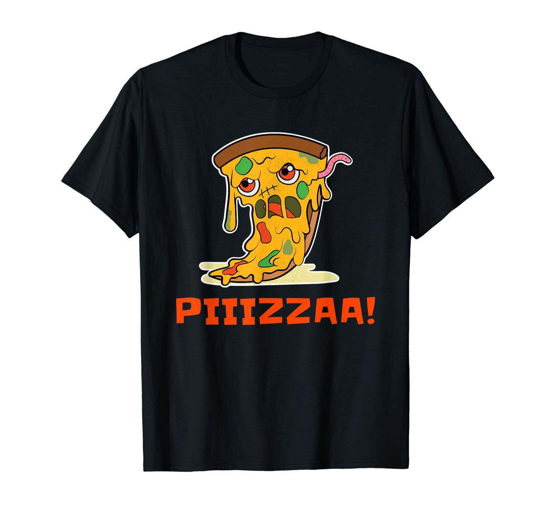 Halloween Zombie Pizza Piiizzaa T Shirt