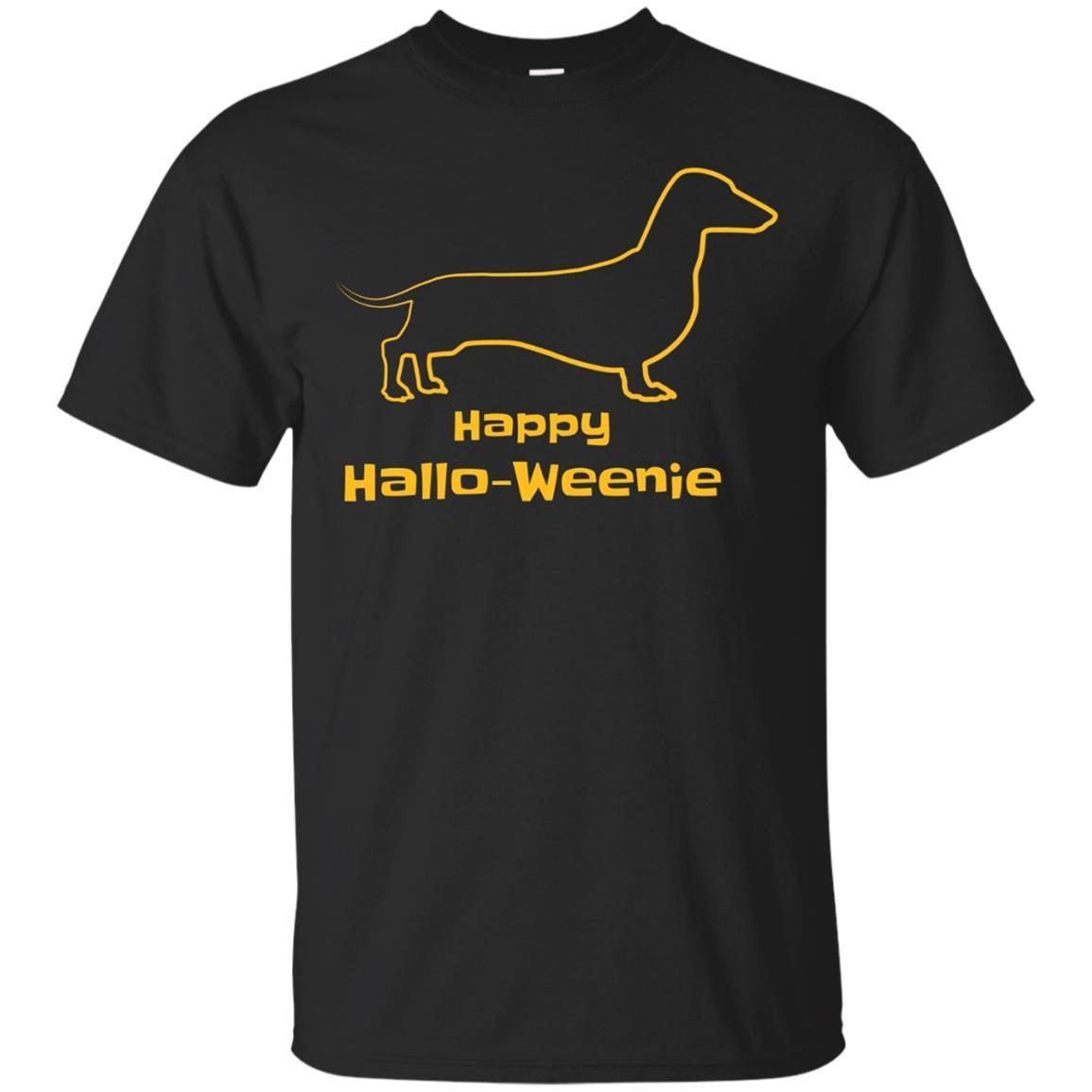 Happy Hallo Weenie Dog Dachshund Fun Halloween Tshirt