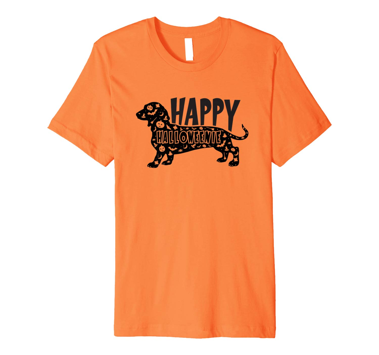 Happy Halloweenie T Shirt Dachshund Dog Shirt Halloween
