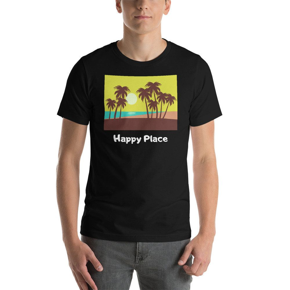 Happy Place Beach Graphic Shirts