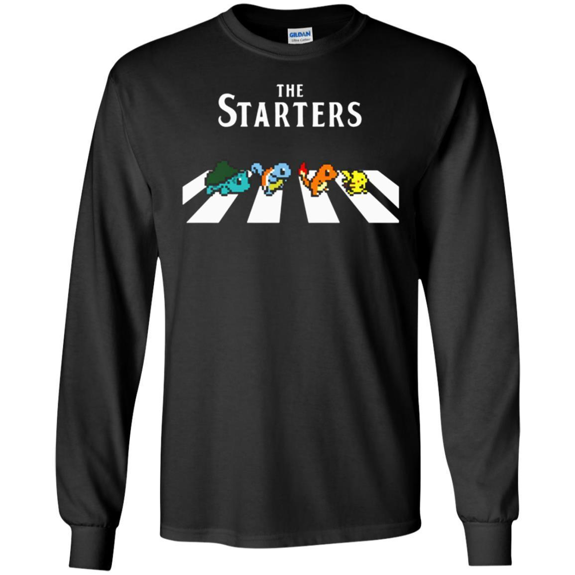 High Quality The Starters Abbey Road Pokemon Ts Shirts