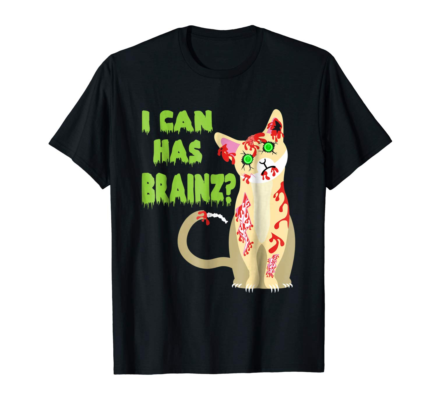 I Can Has A Brain Zombie Cat Shirt